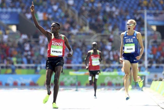 Conseslus Kipruto, campeón olímpico en 3.000 obstáculos en Río