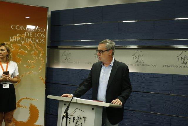 José Manuel Villegas de Ciudadanos en el Congreso