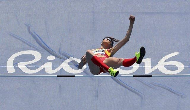 Ruth Beitia el pase a la final de salto de altura de los Juegos de Río