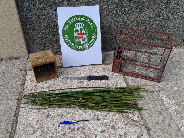 Artilugios decomisados por los Agentes Forestales