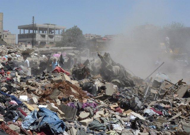 Bombardeos sobre la ciudad siria de Hasaka