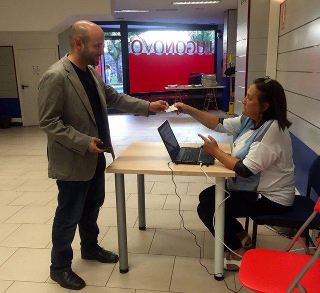 El candidato de En Marea a la Presidencia a la Xunta, Luís Villares