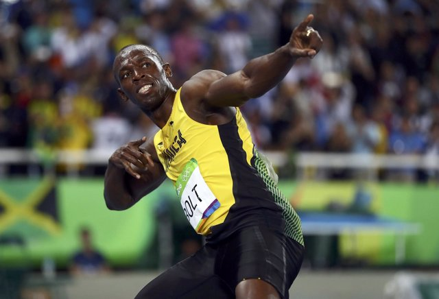El velocista jamaicano Usain Bolt