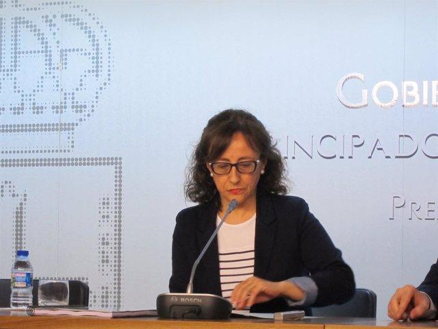 La consejera de Infraestructuras y Ordenación del Territorio, Belén Fernández
