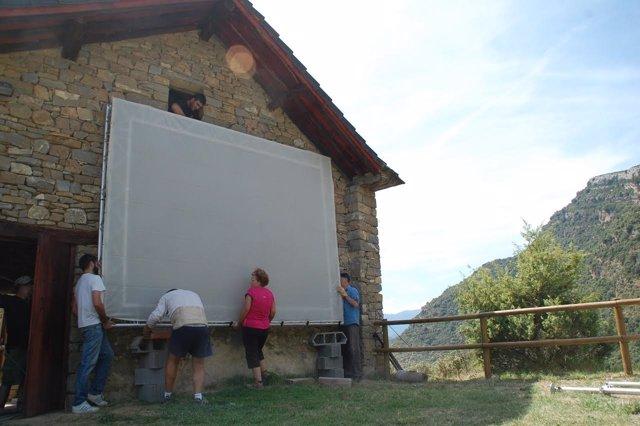 Preparativos Muestra de Cine de Ascaso