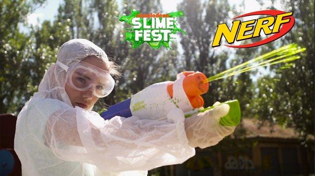 Batalle de NERF en Nickelodeon Slime Fest