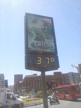 Termómetro a 37 grados