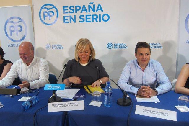 La presidenta del Partido Popular de Asturias, Mercedes Fernández,
