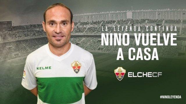 Nino regresa al Elche 10 años después