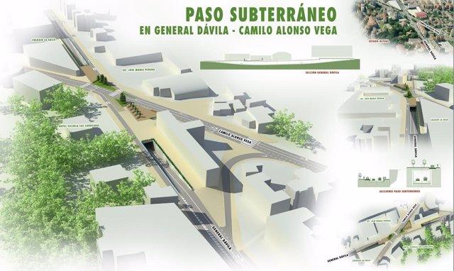Paso subterráneo en General Dávila con Camilo Alonso Vega, en Santander