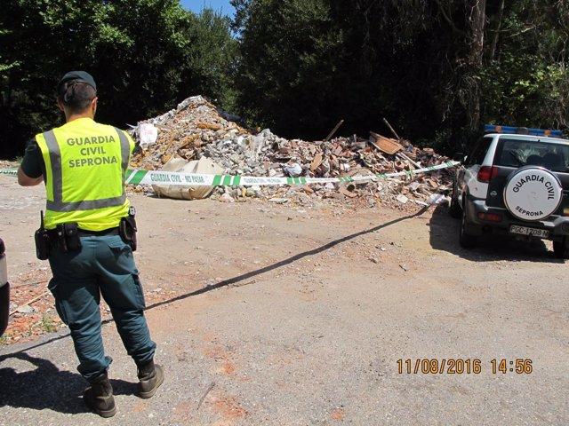 Desarticulada trama de residuos peligrosos en la comarca de O Salnés.