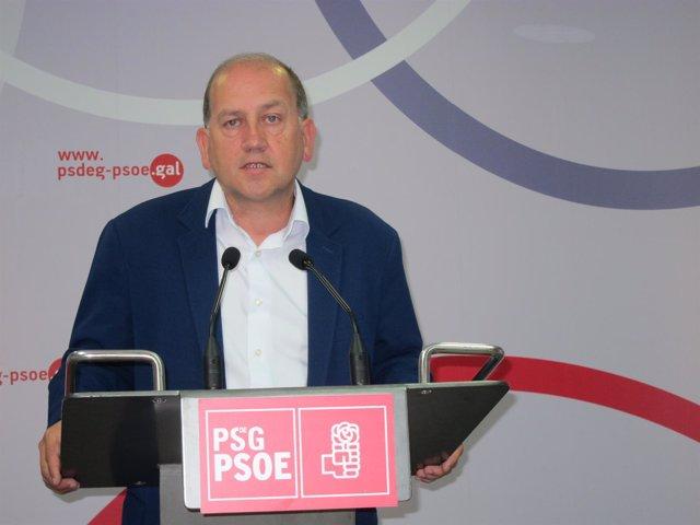 El candidato del PSdeG a la Presidencia a la Xunta, Xoaquín Fernández Leiceaga