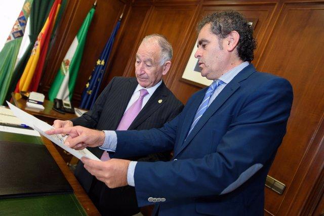 Gabriel Amat y Antonio Torres en la Diputación
