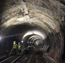 Entre 500 y 600 operarios trabajan en las obras de la Línea 1 de Metro, ejecutadas en un 36%