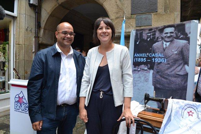 La candidata del BNG a la Xunta y el portavoz del partido en Santiago