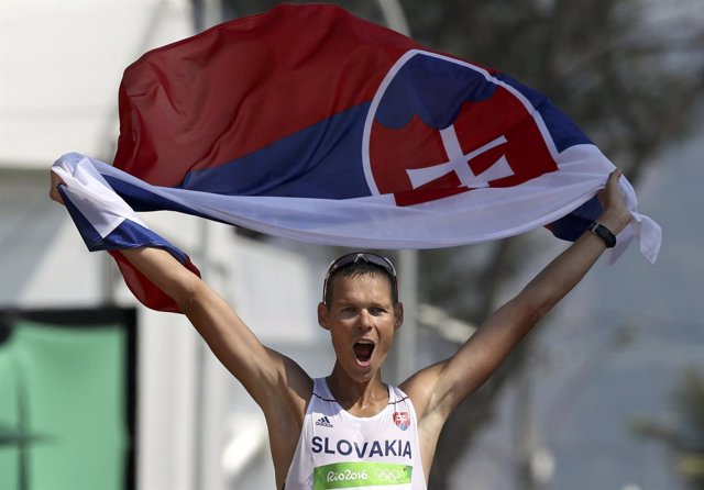 Matej Toth, campeón olímpico en los 50 kilómetros marcha en Río