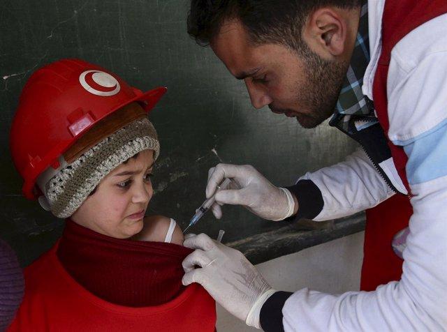 Trabajador de la Media Luna Roja en Siria