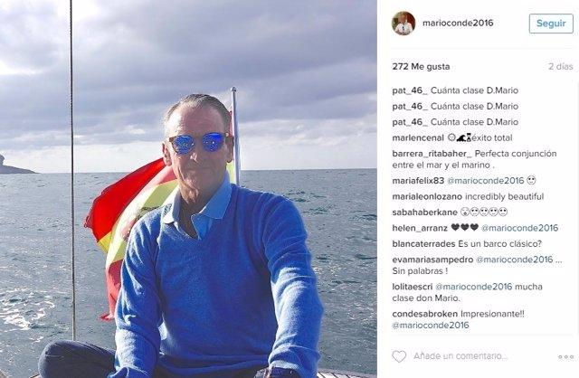 Mario Conde en una imagen tomada de su Instagram