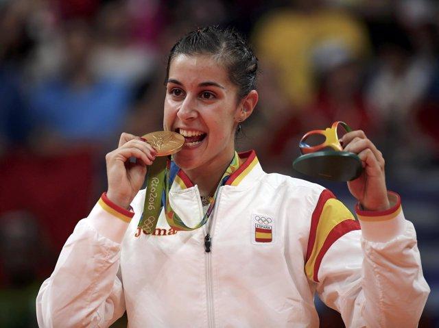 Carolina Marín, oro olímpico en bádminton