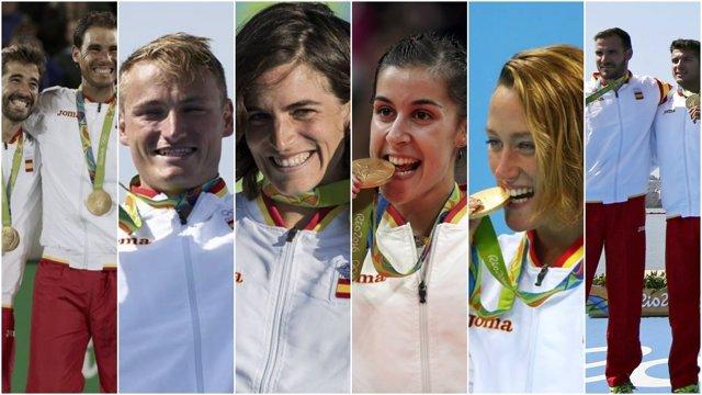 España suma seis oros en Río 2016