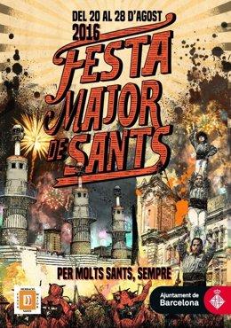 Cartel de las fiestas de Sants