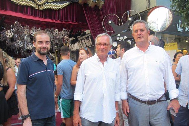 Xavier Trias, Joaquim Forn y Gerard Ardanuy (CiU) en las fiestas de Gràcia
