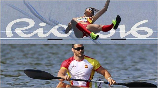 Ruth Beitia y Saúl Craviotto en los Juegos Olímpicos