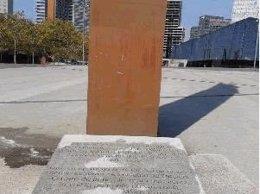 Pintada nazi en un monumento de víctimas republicanas
