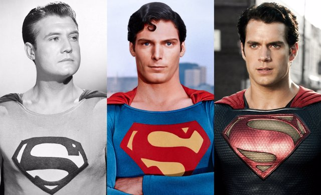 Collage diferentes versiones de Superman
