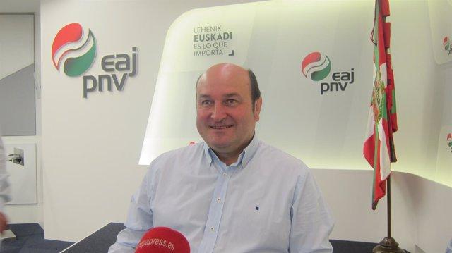 Andoni Ortuzar en entrevista con Europa Press