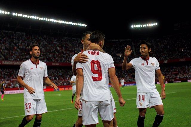 El Sevilla golea al Espanyol