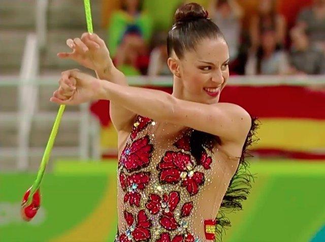 Carolina Rodríguez en su ejercicio en Río 2016
