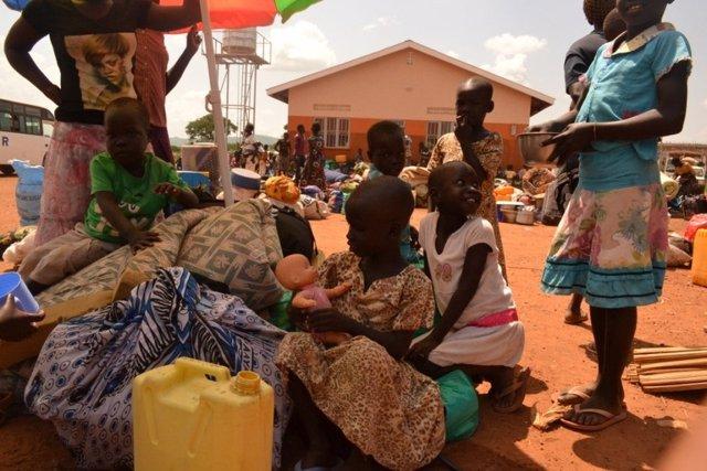 Refugiados sursudaneses en Uganda