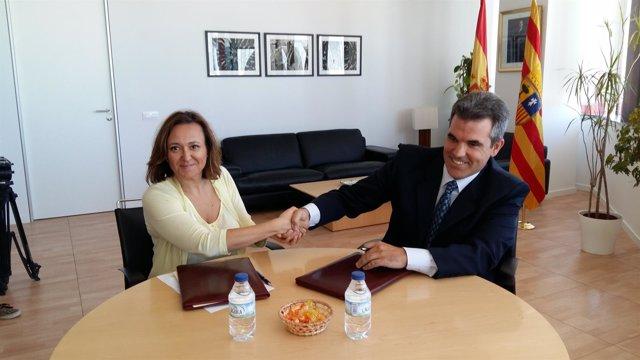 El Gobierno de Aragón firma un convenio con Agua Fontecabras