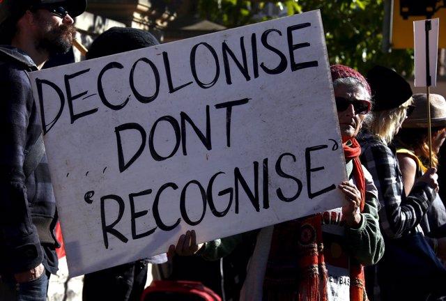 Protesta de aborígenes australianos