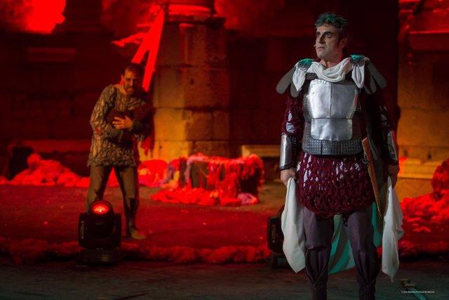 Un pasaje de El cerco de Numancia en el Teatro Romano de Mérida