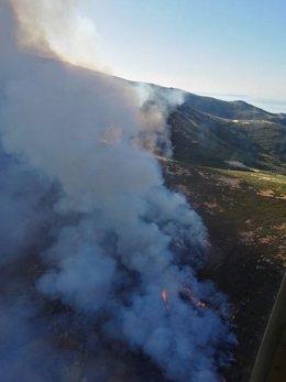 Incendio forestal en Jerte