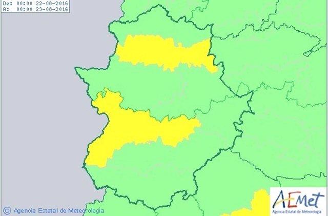 Alerta por altas temperaturas en Extremadura