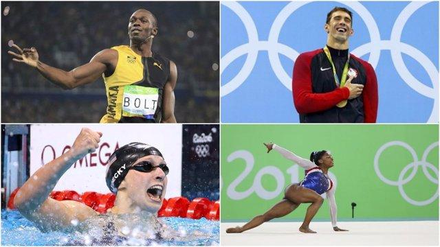 Usain Bolt Michael Phelps Katie Ledecky Simone Biles Río