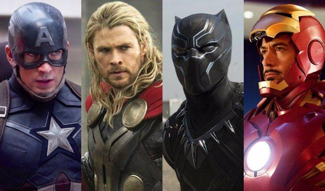 Capitán América, Thor, pantera Negra, Iron Man