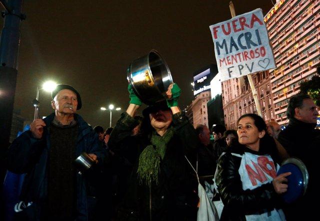 Cacerolada contra Mauricio Macri por el 'tarifazo'