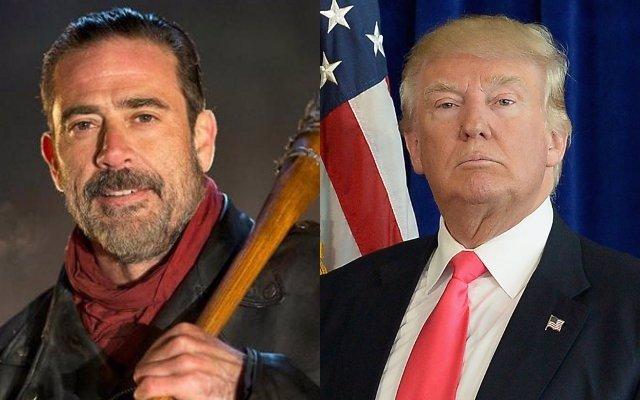 Negan de The Walking Dead y Donald Trump