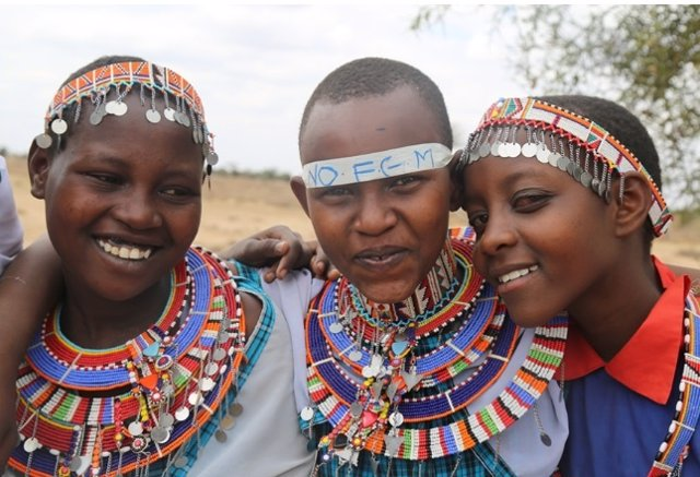 Niñas masái de Kenia