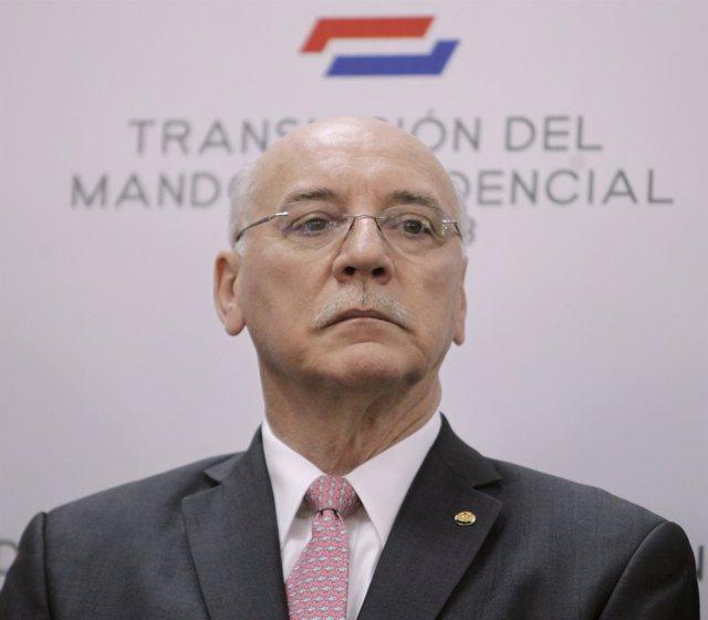 El ministro de Asuntos Exteriores de Paraguay, Eladio Loizaga.