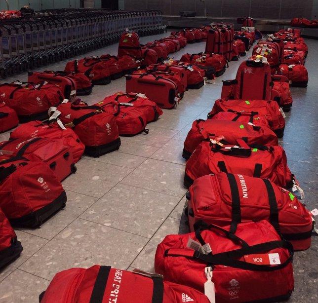 Las maletas del equipo británico JJOO