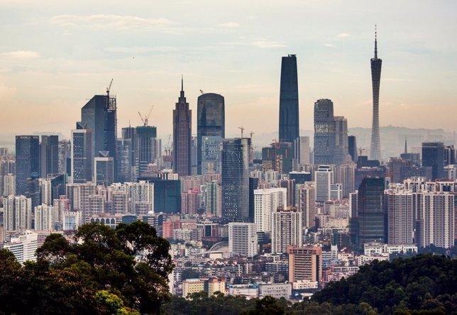 Skyline de Guangzhou (China)