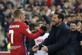 """Simeone: """"Griezmann tendrá un proceso normal de ir de menos a más"""""""