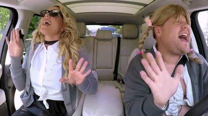 Britney Spears canta (poco y regular) en el Carpool Karaoke con James Corden