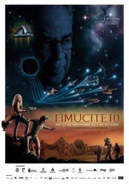 Cartel promocional de la décima edición de Fimucité
