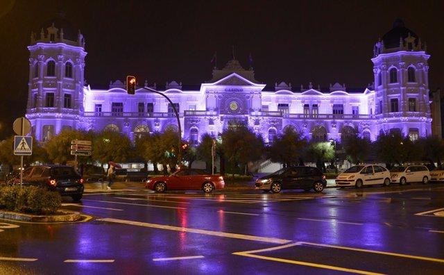 Casino del Sardinero iluminado